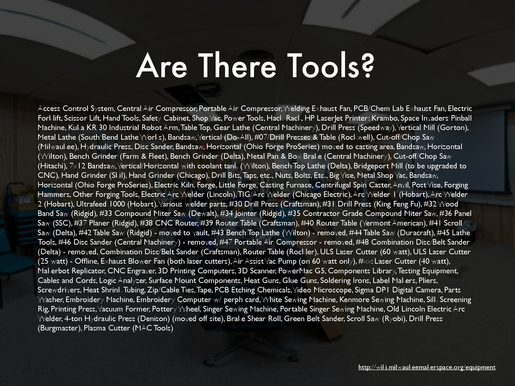 Are There Tools? Access Control System, Central...