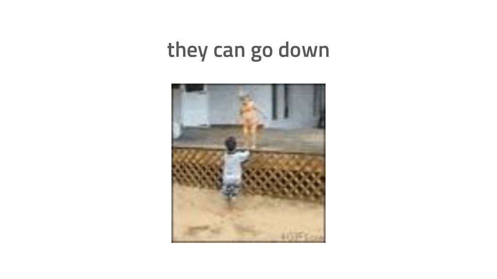 they can go down