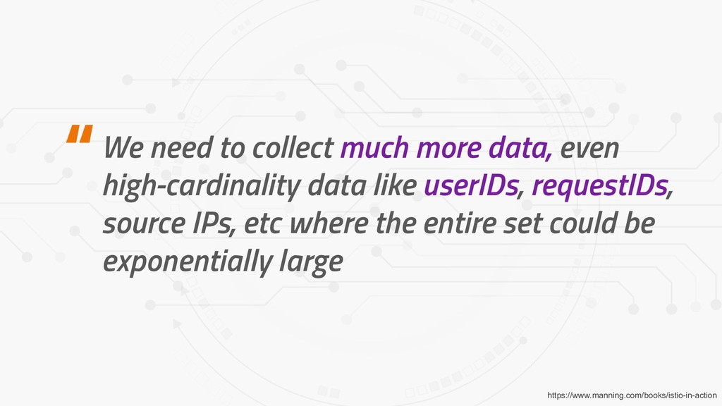We need to collect much more data, even high-ca...