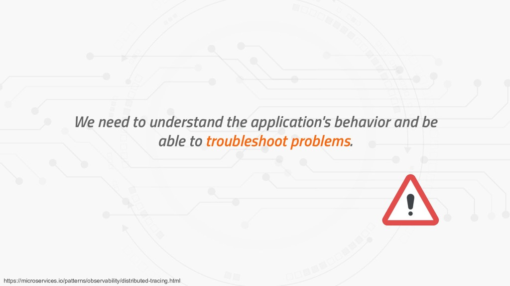 We need to understand the application's behavio...