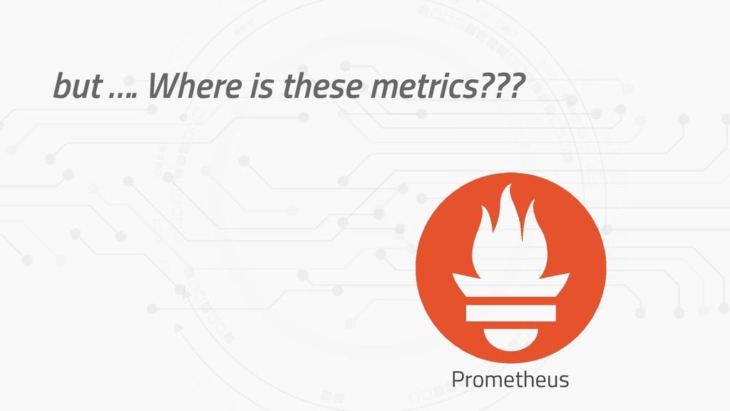 but …. Where is these metrics??? Prometheus