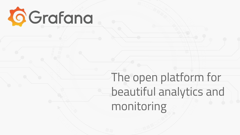 The open platform for beautiful analytics and m...