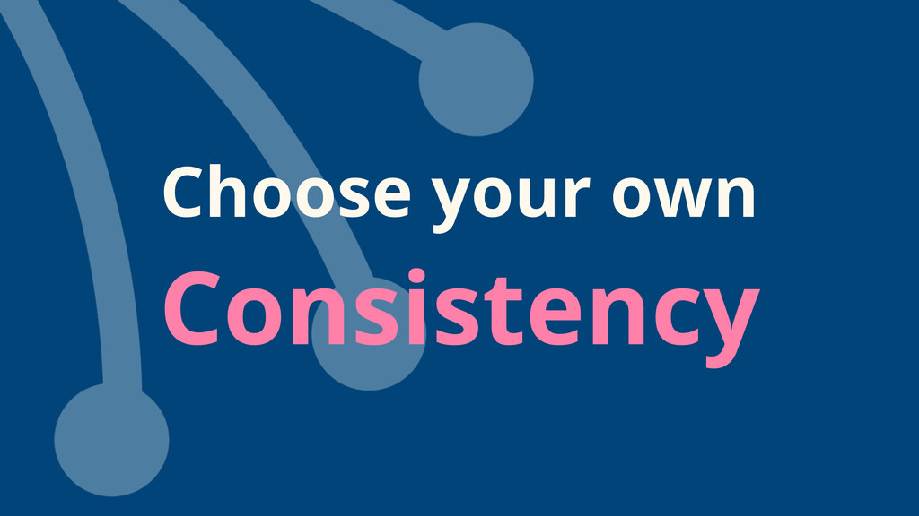 Choose your own Consistency