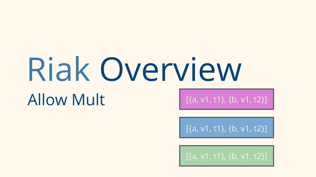 Riak Overview Allow Mult [{a, v1, t1}, {b, v1, ...