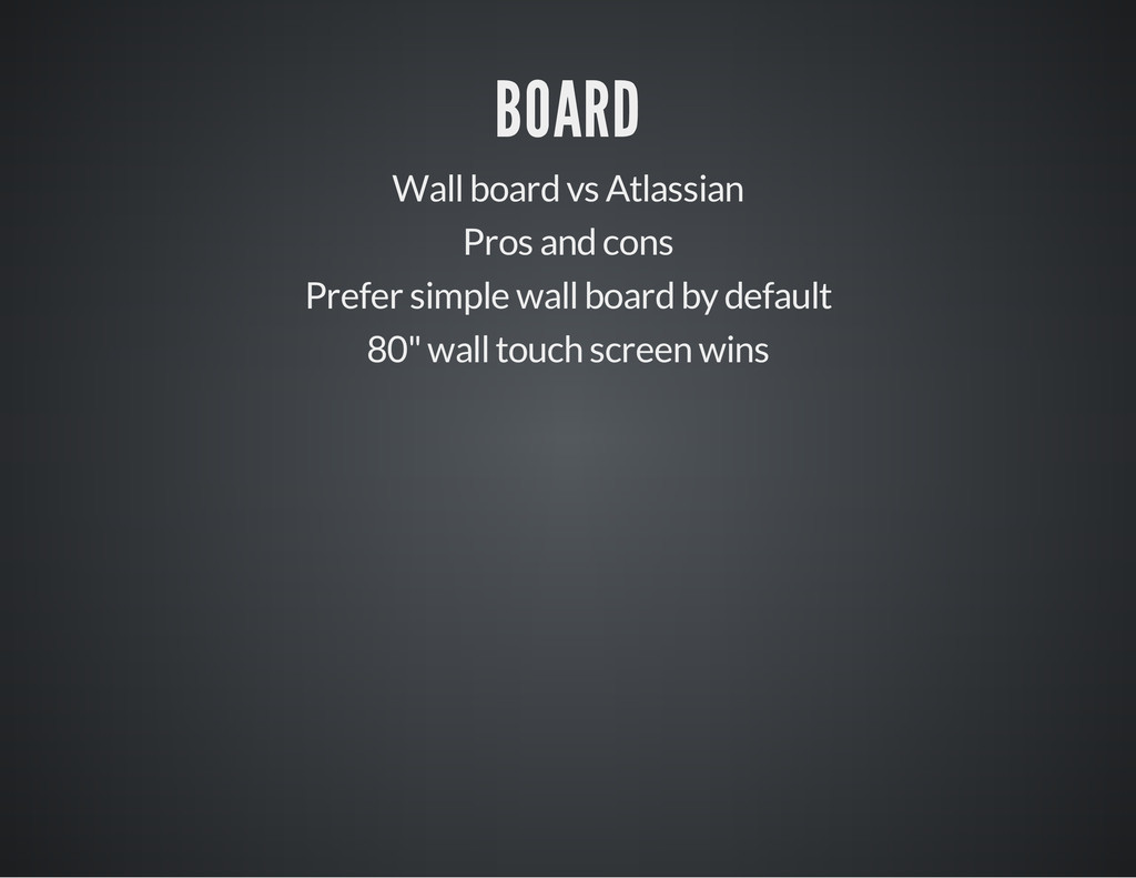 BOARD Wall board vs Atlassian Pros and cons Pre...