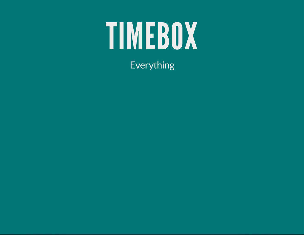 TIMEBOX Everything