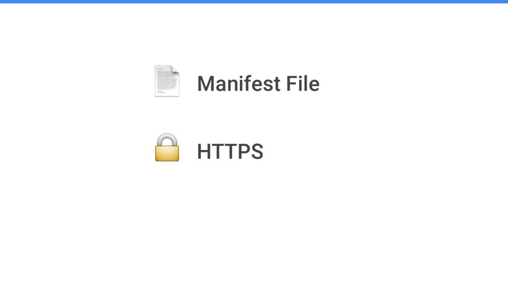 Manifest File HTTPS