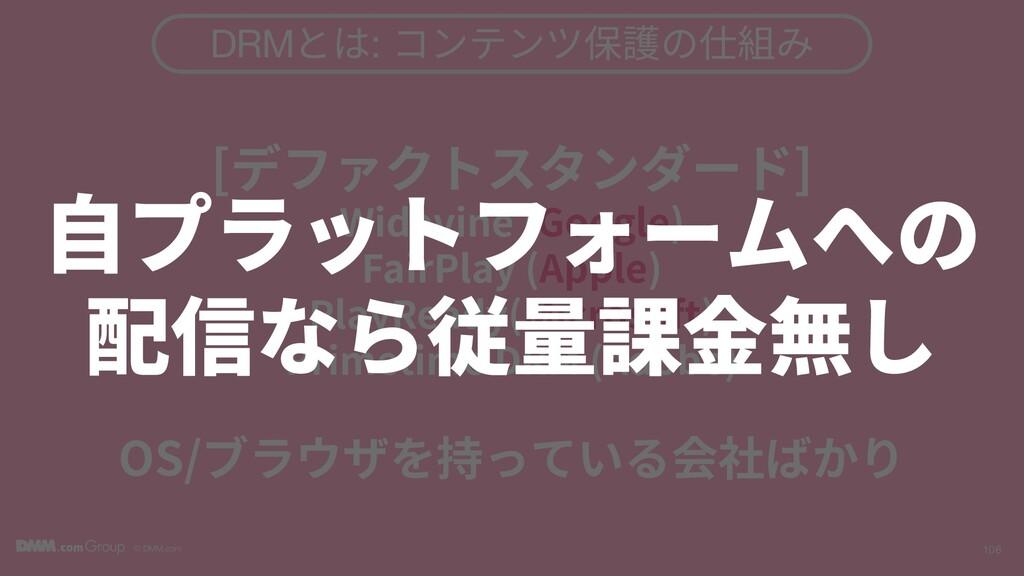 © DMM.com 106 DRMとは: コンテンツ保護の仕組み [デファクトスタンダード] ...