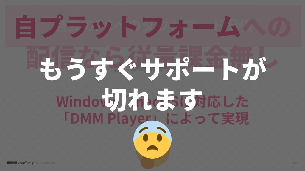 © DMM.com 過去のPCへのダウンロード配信 110 Windows / macOSに対...