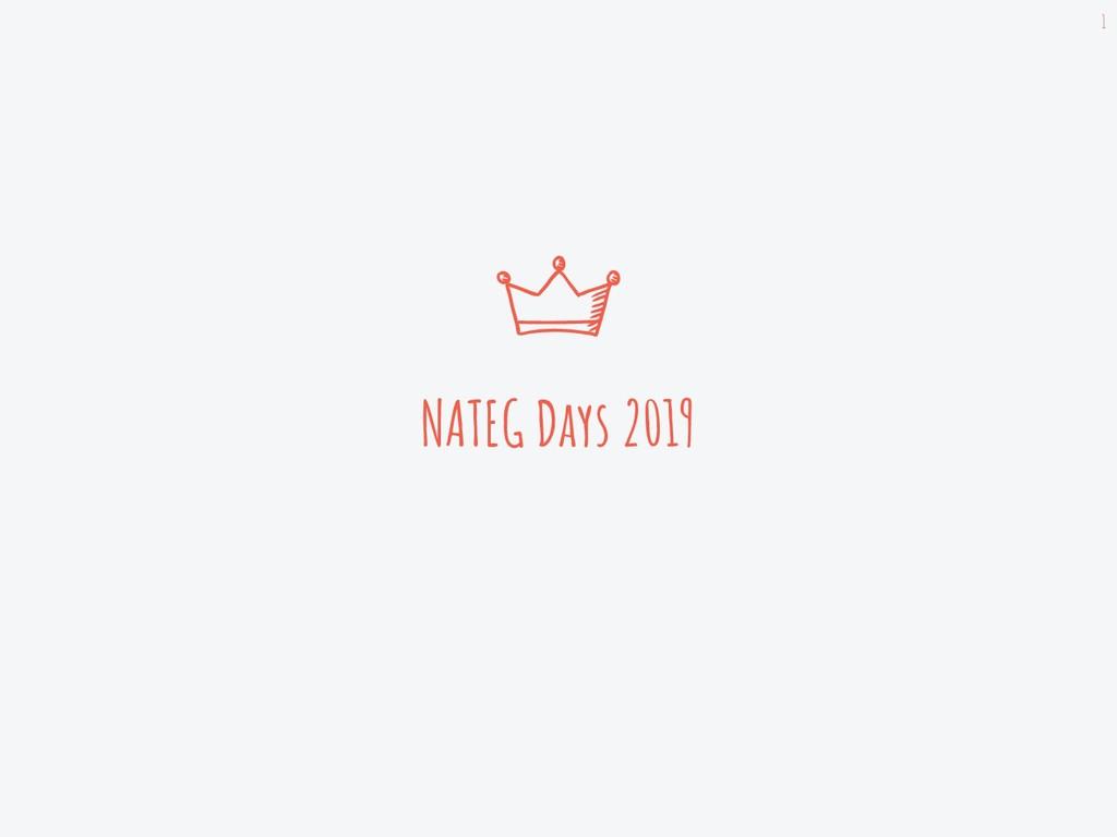 NATEG Days 2019 1