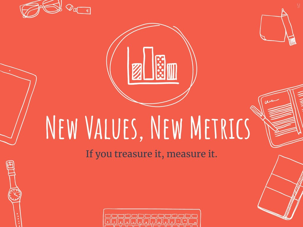 New Values, New Metrics If you treasure it, mea...