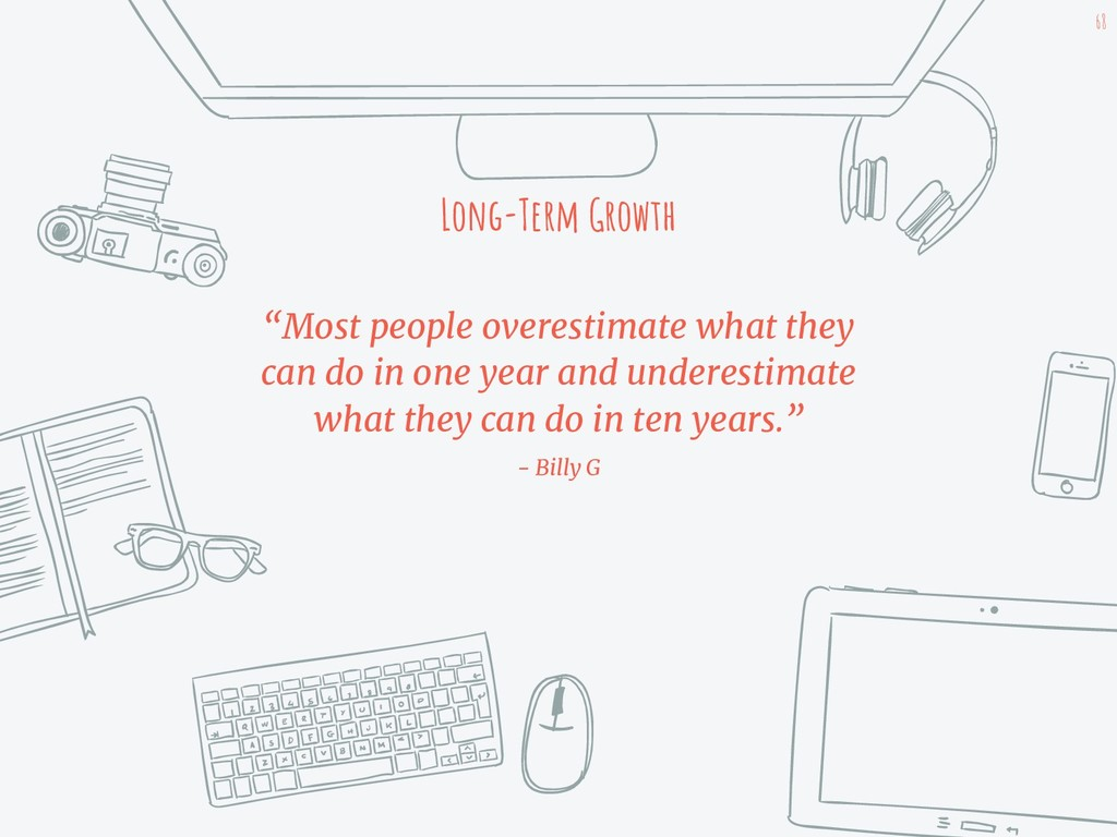 """Most people overestimate what they can do in o..."