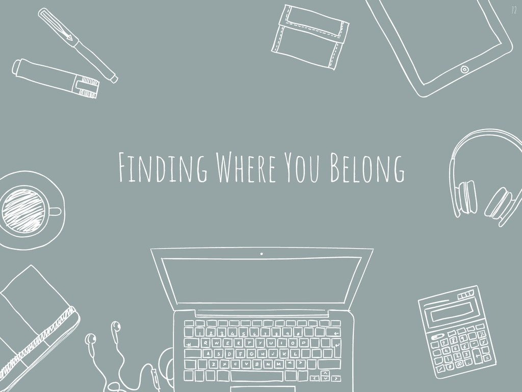 Finding Where You Belong 72