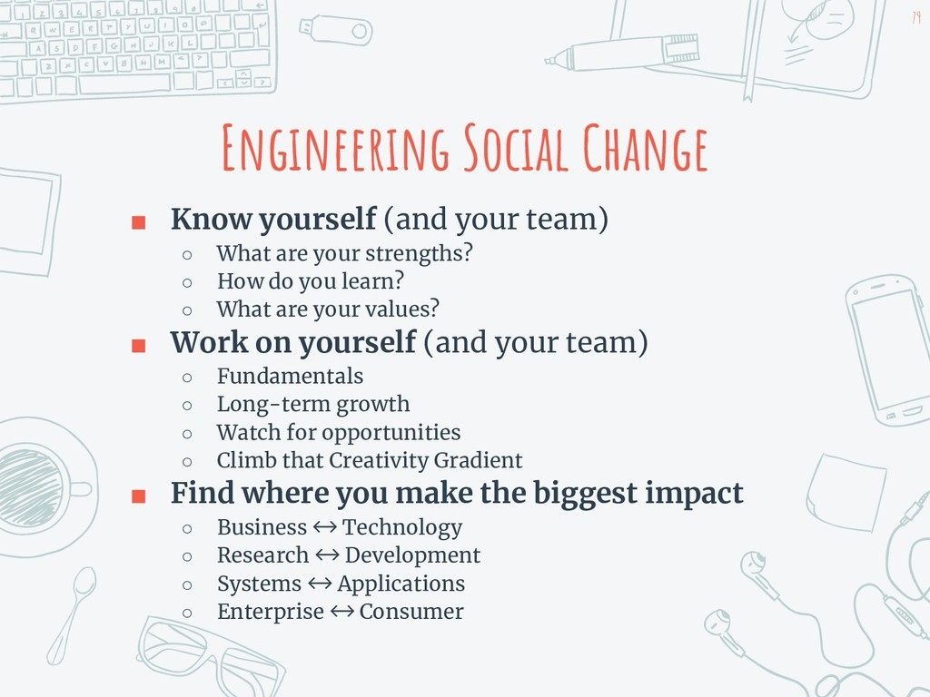 Engineering Social Change ■ Know yourself (and ...