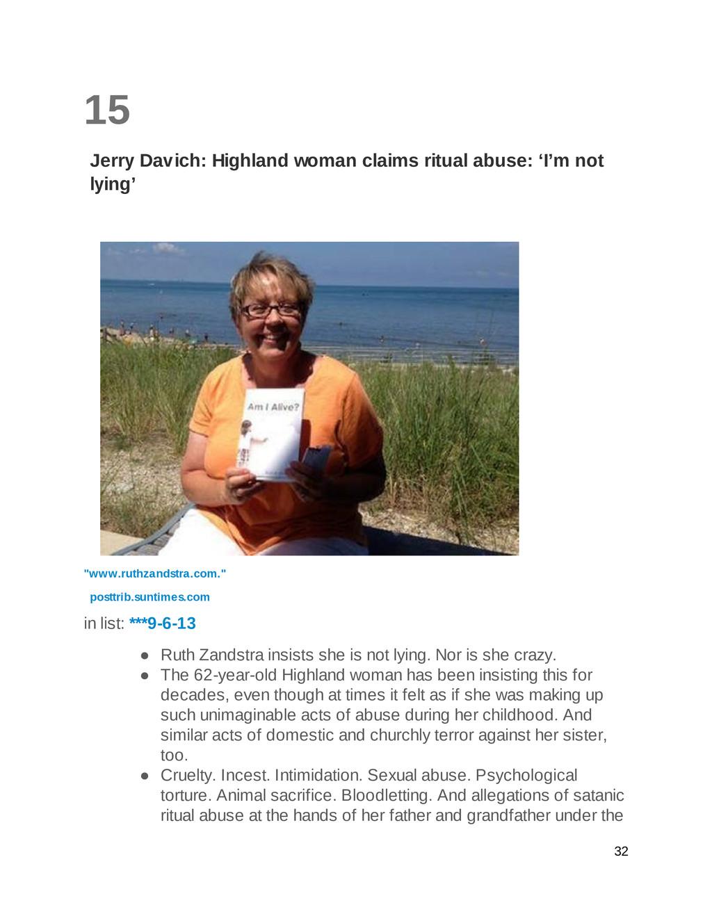 15 Jerry Davich: Highland woman claims ritual a...