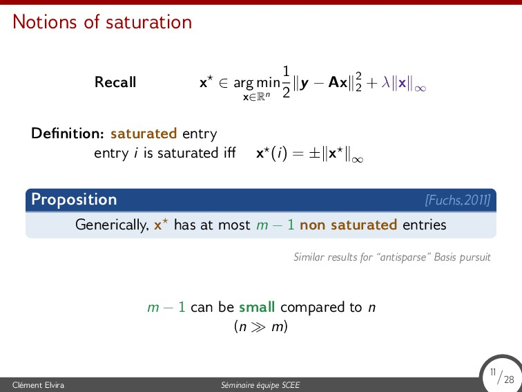 Notions of saturation Recall x⋆ ∈ arg min x∈Rn ...