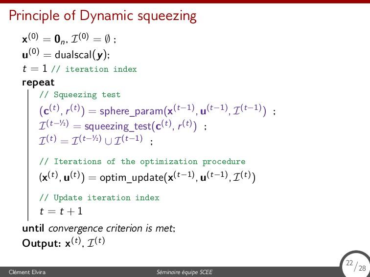 Principle of Dynamic squeezing x(0) = 0n , I(0)...