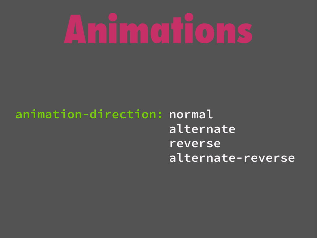 Animations normal alternate reverse alternate-r...