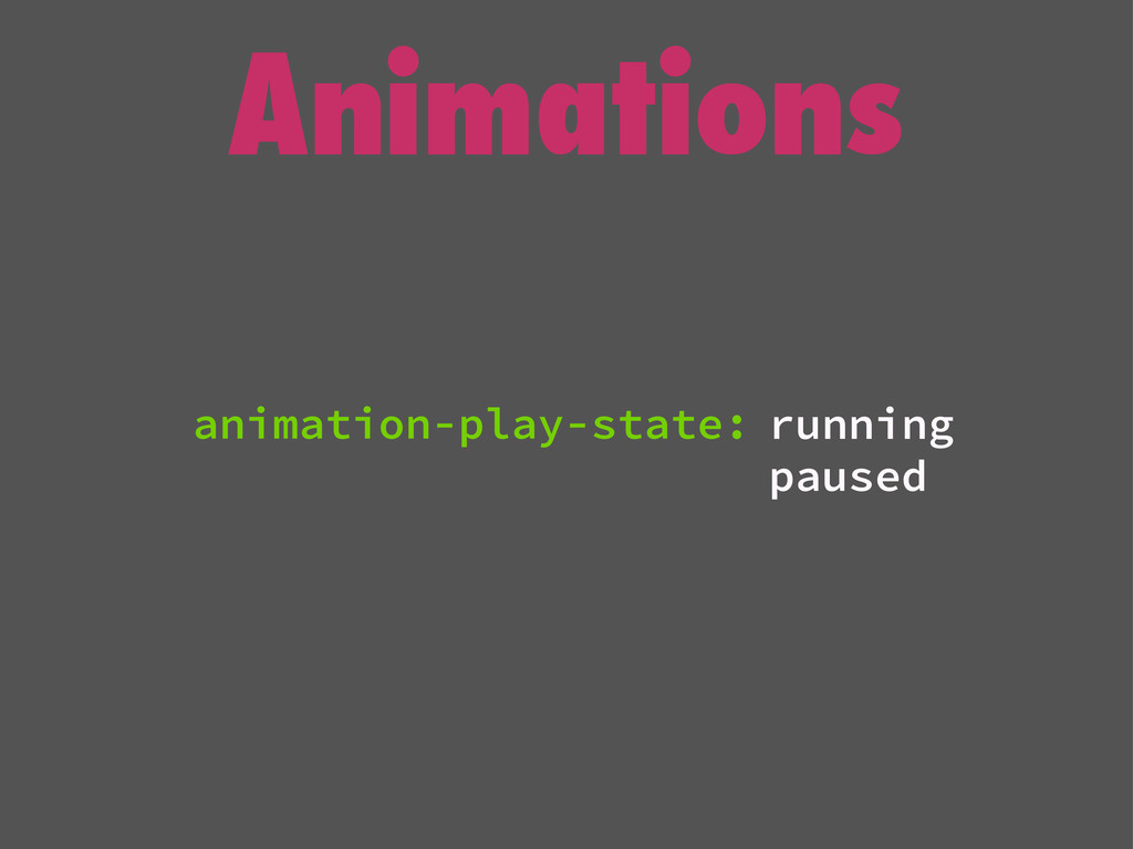 Animations running paused animation-play-state: