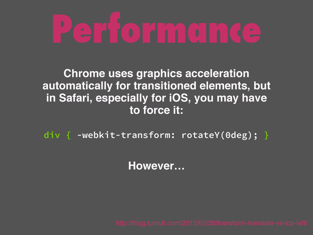 Performance Chrome uses graphics acceleration a...