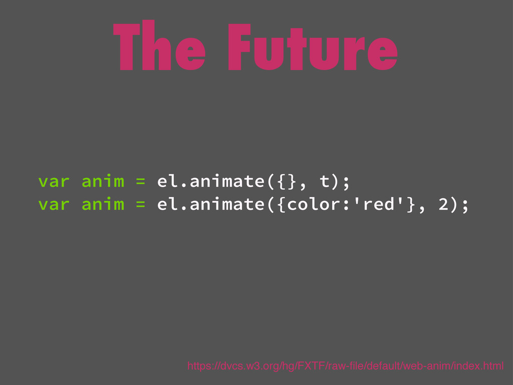 The Future var anim = el.animate({}, t); var an...