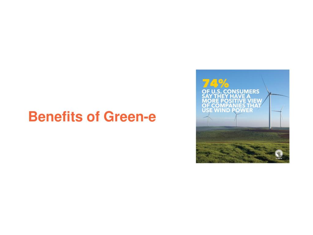 Benefits of Green-e
