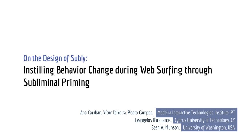 Instilling Behavior Change during Web Surfing t...