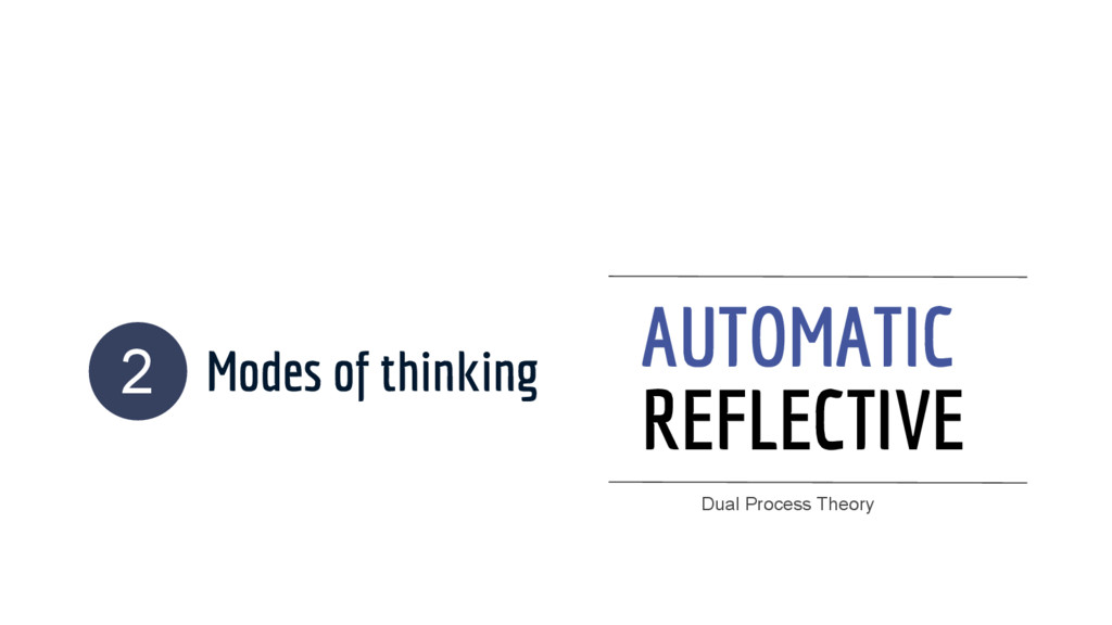 Modes of thinking AUTOMATIC REFLECTIVE 2 Dual P...