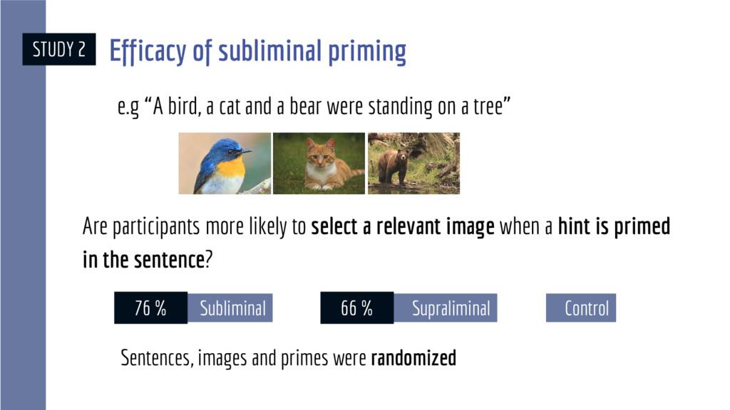 Supraliminal STUDY 2 66 % Control Subliminal Ar...