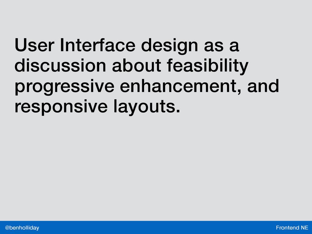 Frontend NE @benholliday User Interface design ...