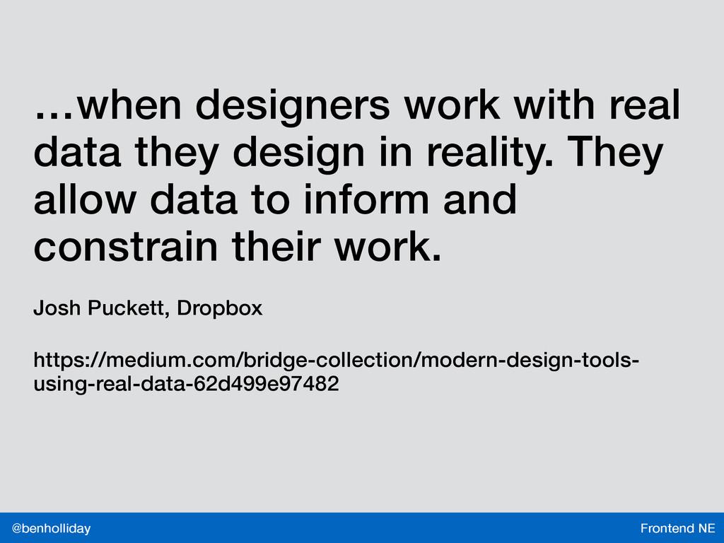 Frontend NE @benholliday …when designers work w...