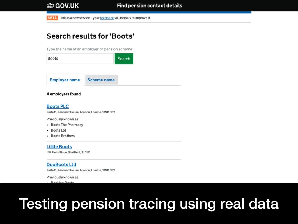 Frontend NE @benholliday Testing pension tracin...