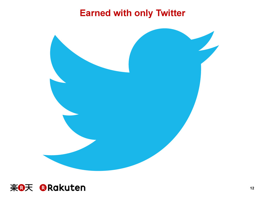 12 Earned with only Twitter
