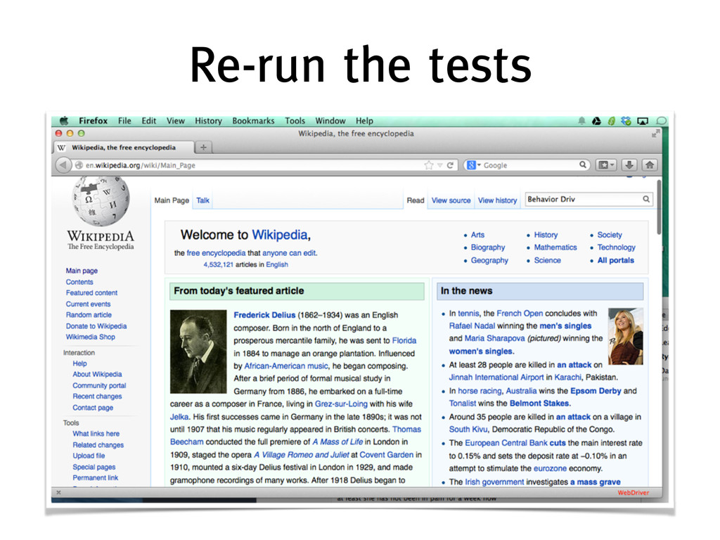 Re-run the tests