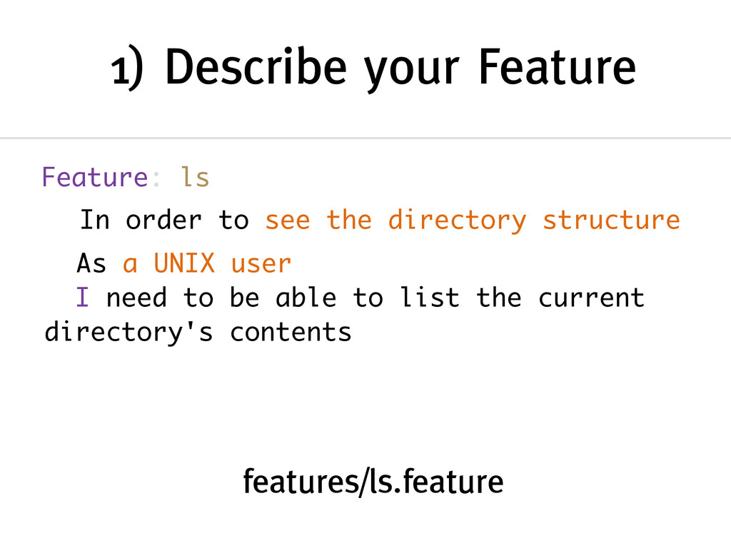 1) Describe your Feature Feature: ls features/l...