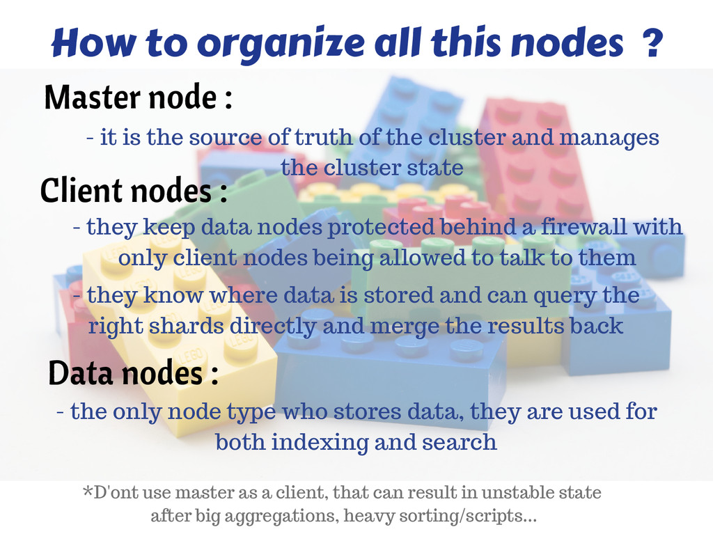 Client nodes : How to organize all this nodes ?...