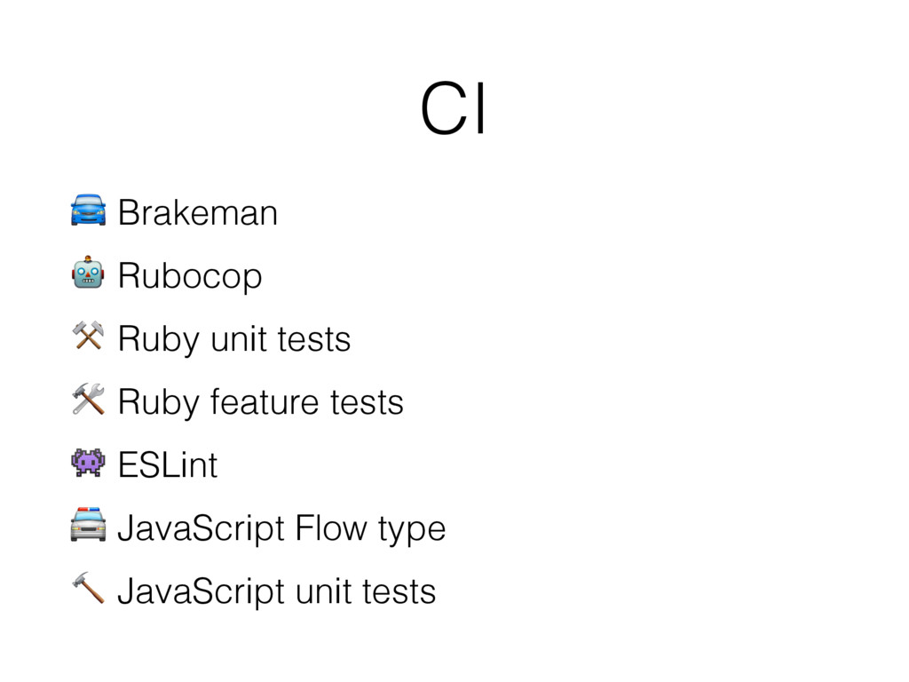 CI  Brakeman  Rubocop ⚒ Ruby unit tests  Ruby f...