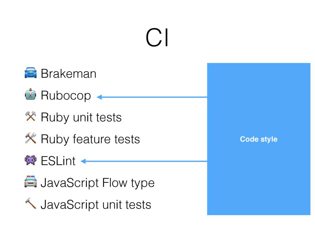 CI Code style  Brakeman  Rubocop ⚒ Ruby unit te...