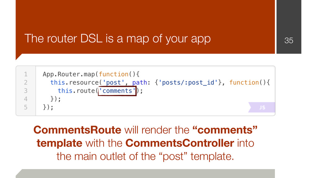 The router DSL is a map of your app 35 Comments...