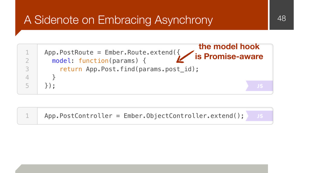 A Sidenote on Embracing Asynchrony 48 the model...