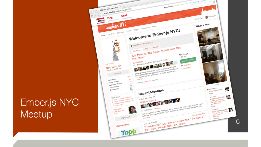 Ember.js NYC Meetup 6