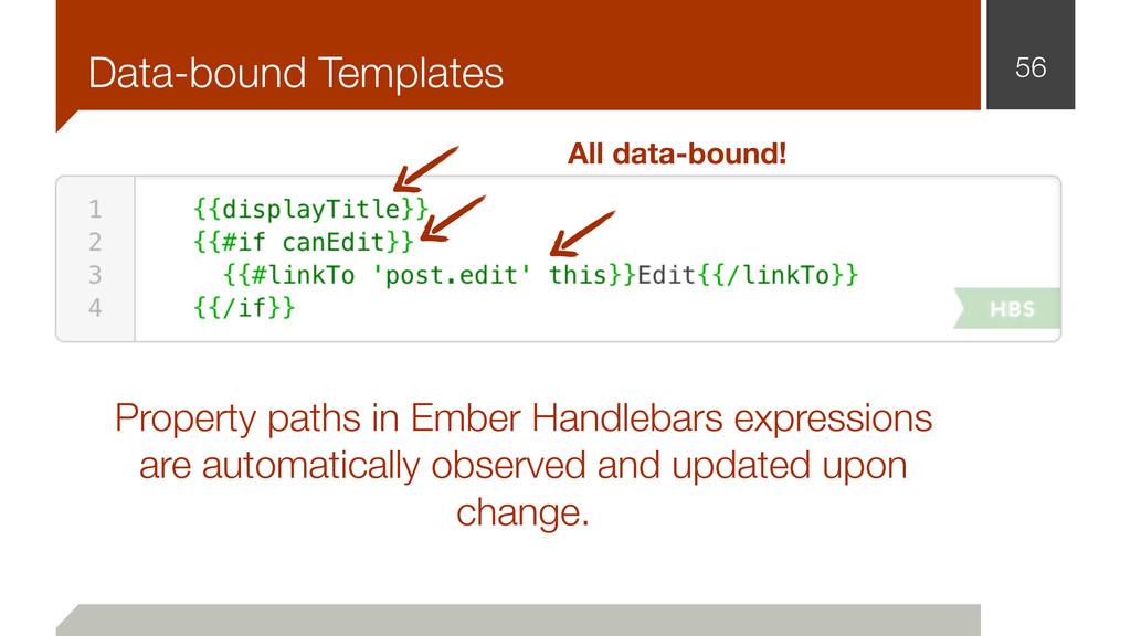 Data-bound Templates 56 All data-bound! Propert...
