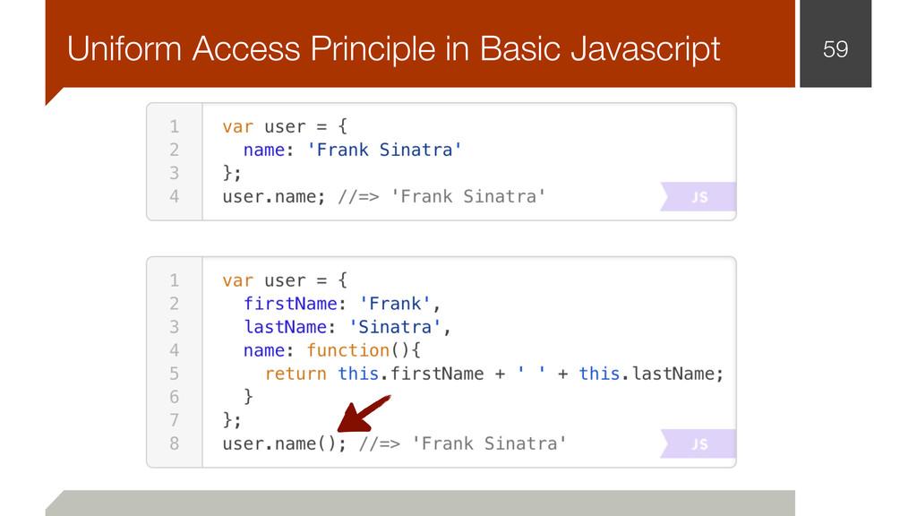 59 Uniform Access Principle in Basic Javascript