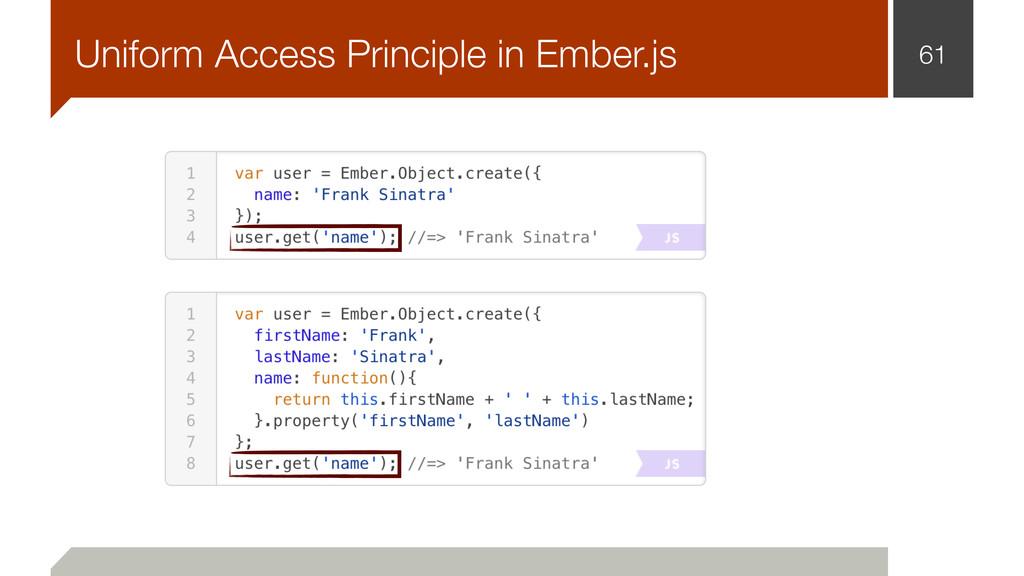 61 Uniform Access Principle in Ember.js