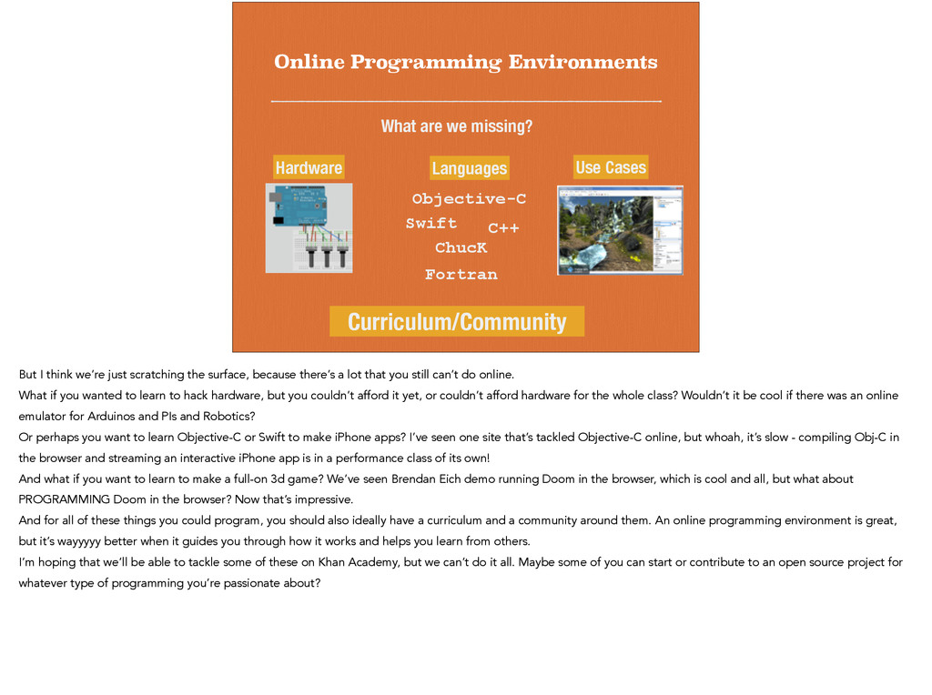 Online Programming Environments What are we mis...