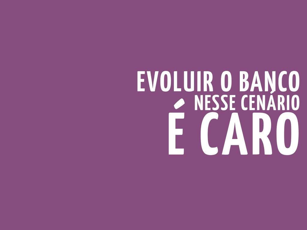 EVOLUIR O BANCO NESSE CENÁRIO É CARO