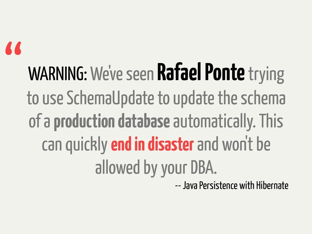 WARNING: We've seen Rafael Ponte trying to use ...