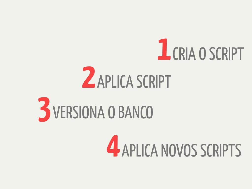 CRIA O SCRIPT 1 APLICA SCRIPT 2 VERSIONA O BANC...