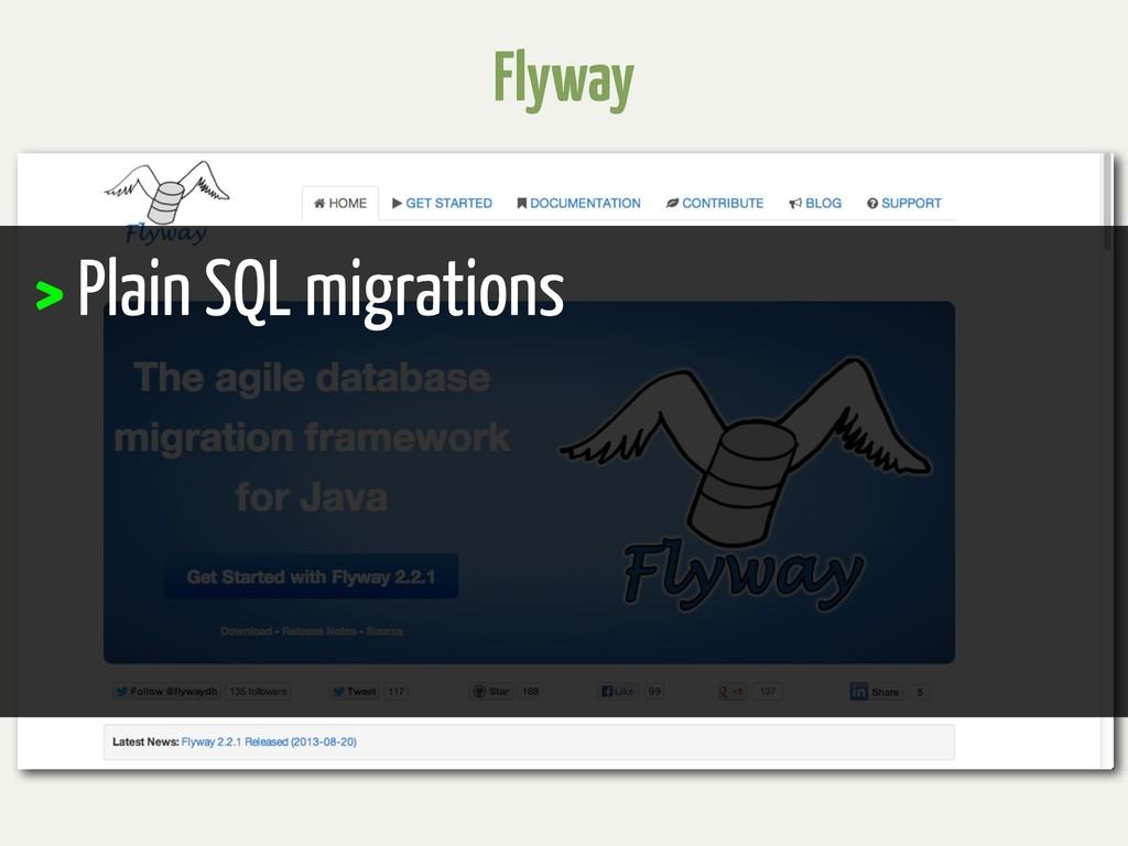 Flyway > Plain SQL migrations