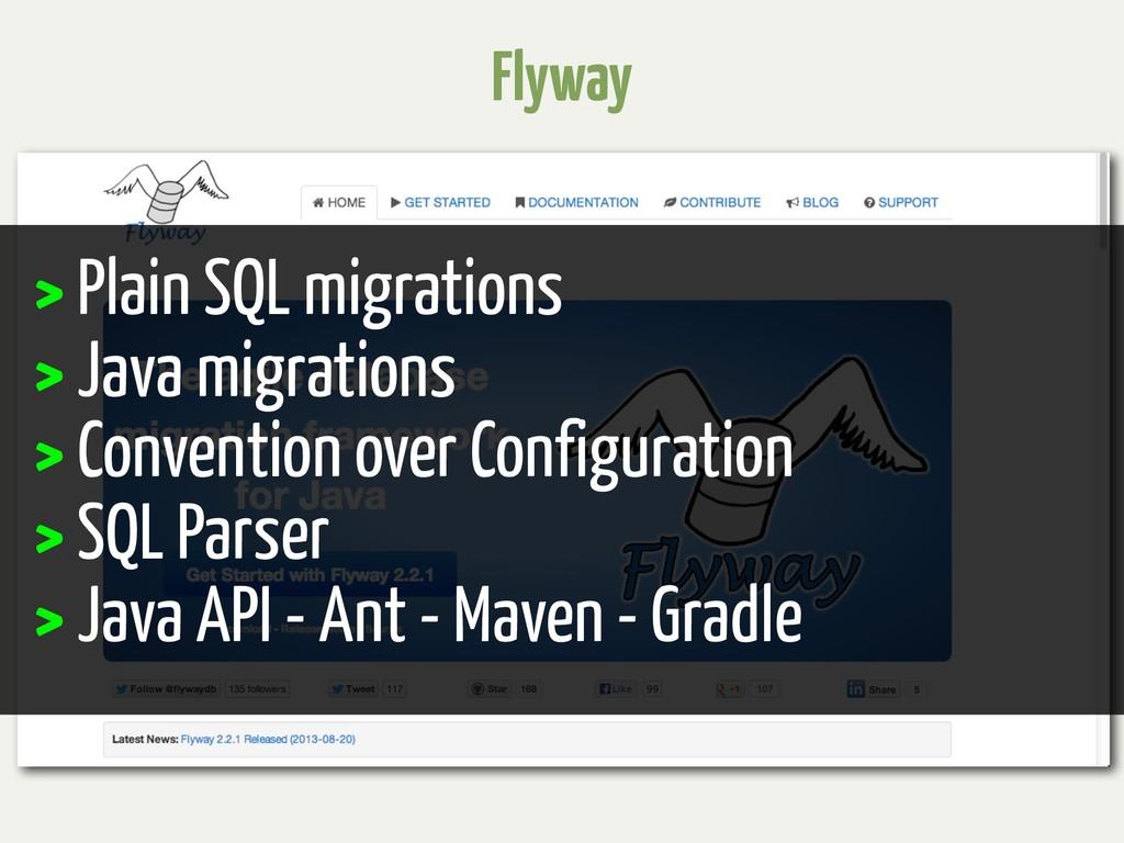 Flyway > Plain SQL migrations > Java migrations...